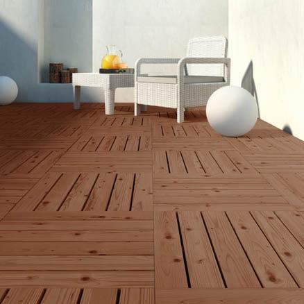 Suelos de madera para exterior leroy merlin for Baldosas para exterior