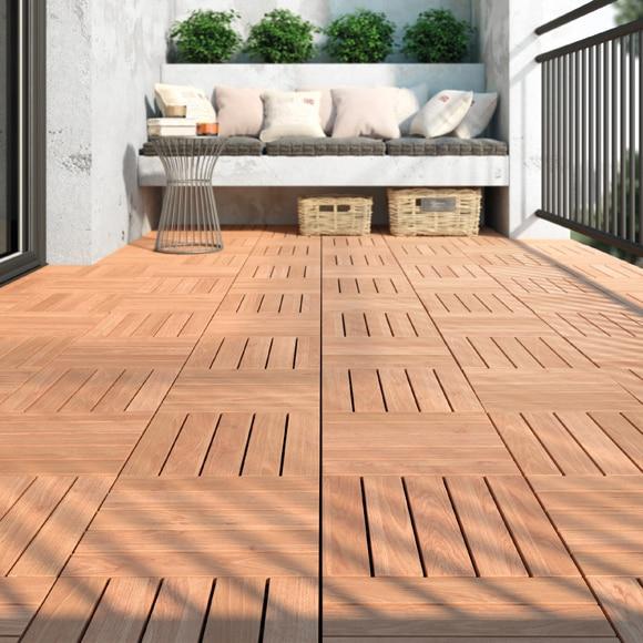 Baldosa de madera con base bangkirai 30x30 cm ref - Baldosas de madera ...