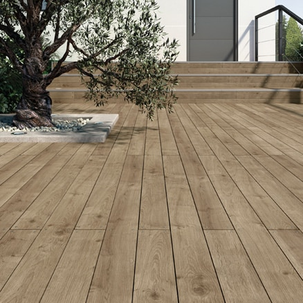 Suelos de madera para exterior leroy merlin - Imitacion madera exterior ...