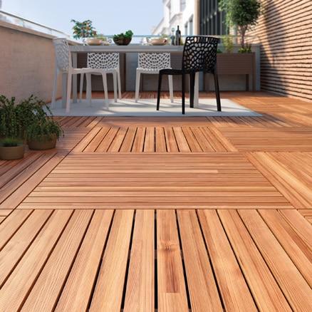 Suelos de madera para exterior leroy merlin for Suelos para jardin exterior