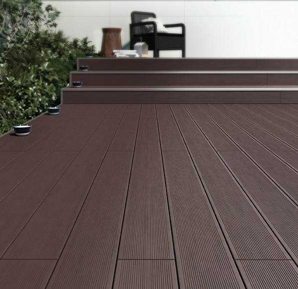 Lamas composite naterial chocolate 14 5x220 cm ref - Suelo composite exterior ...