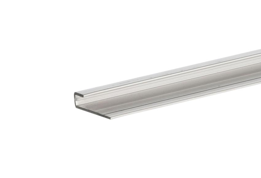 Perfil de aluminio naterial gris 3x240 cm ref 15671845 for Perfil u aluminio leroy merlin