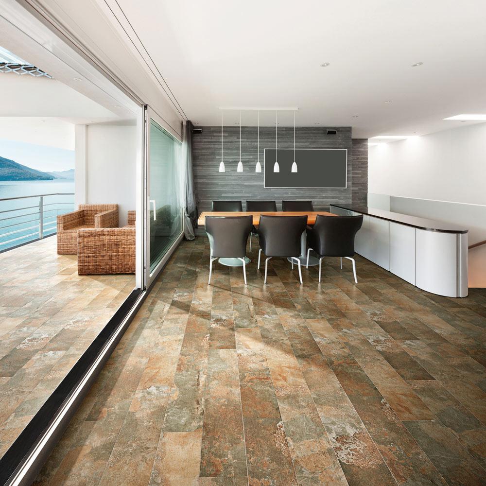 Pavimento 23x120 musgo antideslizante serie ardoise ref for Ceramica exterior