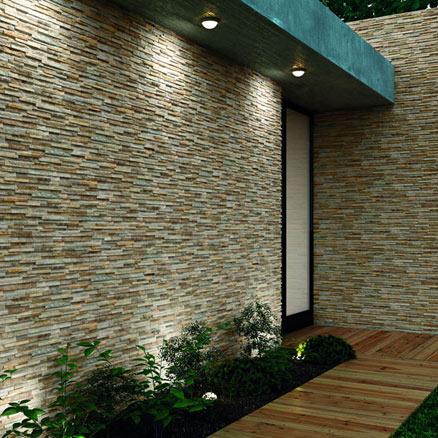 Cer mica para exterior y terraza leroy merlin for Plaqueta imitacion piedra para exterior