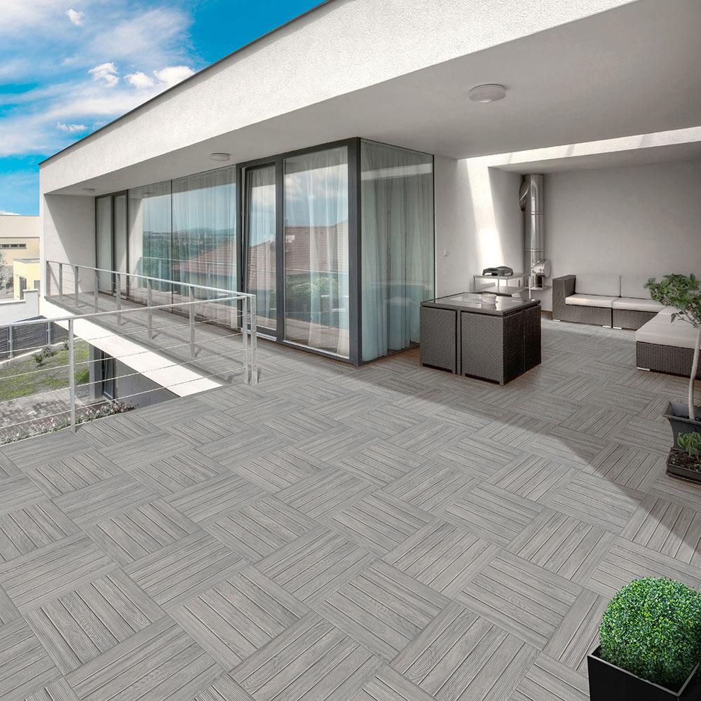 Pavimento 45 2×45 2 Cm Gris Antideslizante Serie Lombok Ref