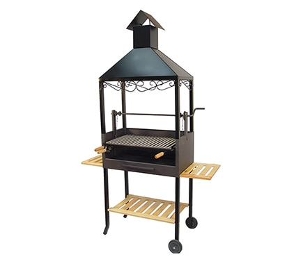 Barbacoa de carb n y le a chimenea completa ref 13427421 for Barbacoa leroy merlin