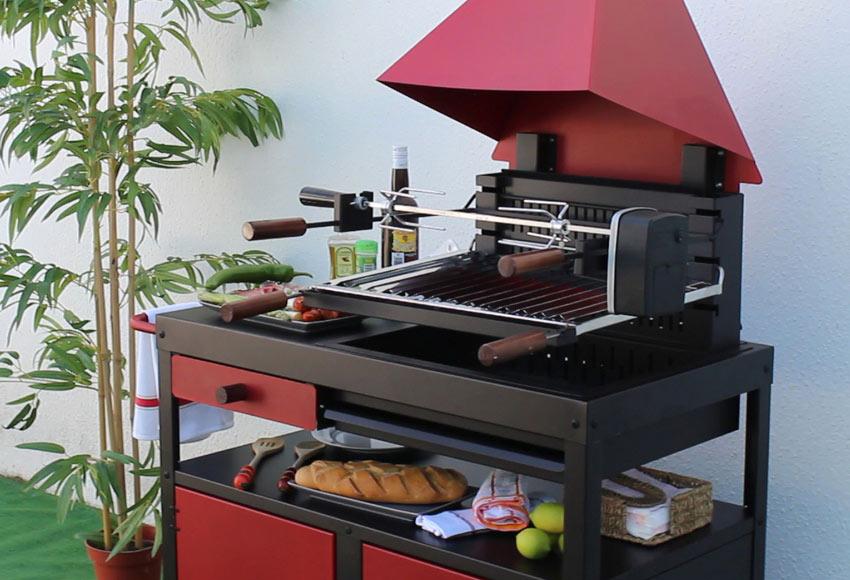 Barbacoa de carb n el asador ref 19463066 leroy merlin - Barbacoas portatiles de carbon ...