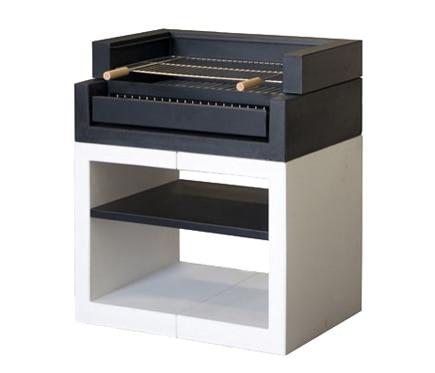 Barbacoa de obra movelar kitaway grill liso blanco y negro ref 14667912 leroy merlin - Grille barbecue leroy merlin ...