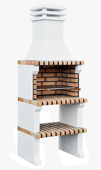 barbacoa de obra con campana movelar liz xl