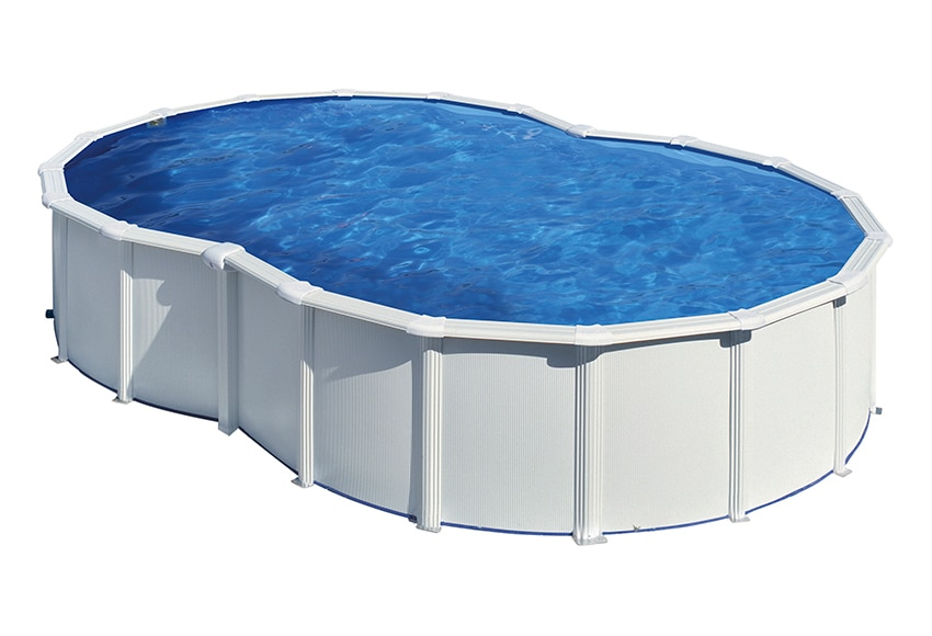 Piscina desmontable gre acero blanca ocho ref 13772766 for Piscina desmontable 4x2