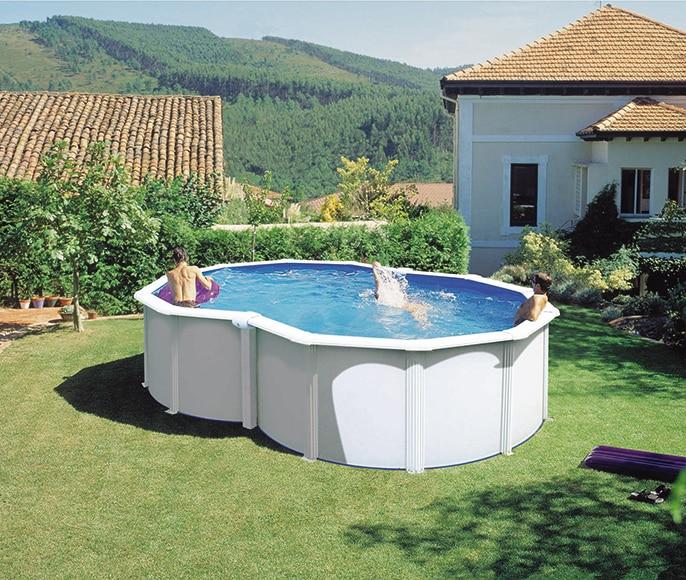 Acero blanca ocho leroy merlin Leroy piscinas desmontables