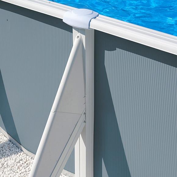 Piscina desmontable gre acero ovalada azul ref 14687204 - Piscina desmontable leroy merlin ...