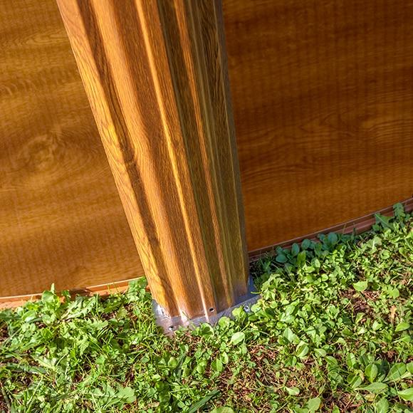 Piscina desmontable gre acero ovalada imitaci n madera ref - Vigas imitacion madera leroy merlin ...
