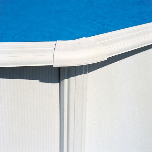 Piscina desmontable gre acero redonda blanca ref 16145815 - Piscina desmontable leroy merlin ...