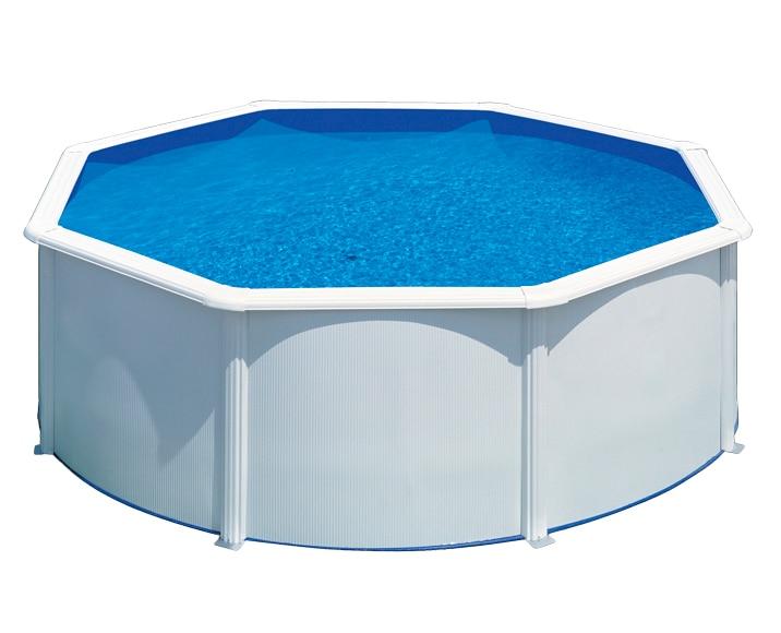 Acero redonda blanca leroy merlin for Leroy piscinas desmontables