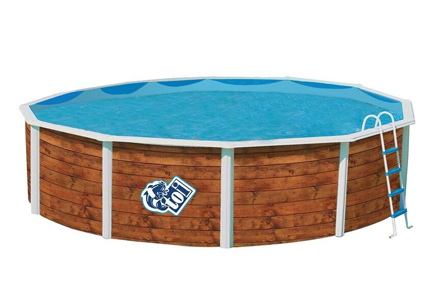 Piscina desmontable toi acero redonda etnica ref 16795401 - Gresite piscinas leroy merlin ...