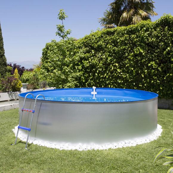 Piscina desmontable gre acero redonda galvanizada ref - Focos piscina leroy merlin ...