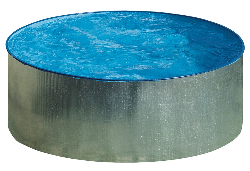 Piscina desmontable gre acero redonda galvanizada ref for Piscinas hinchables leroy merlin