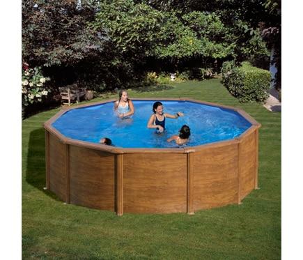 Piscinas desmontable gre acero redonda imitaci n madera ref 81877538 leroy merlin - Piscina desmontable acero ...