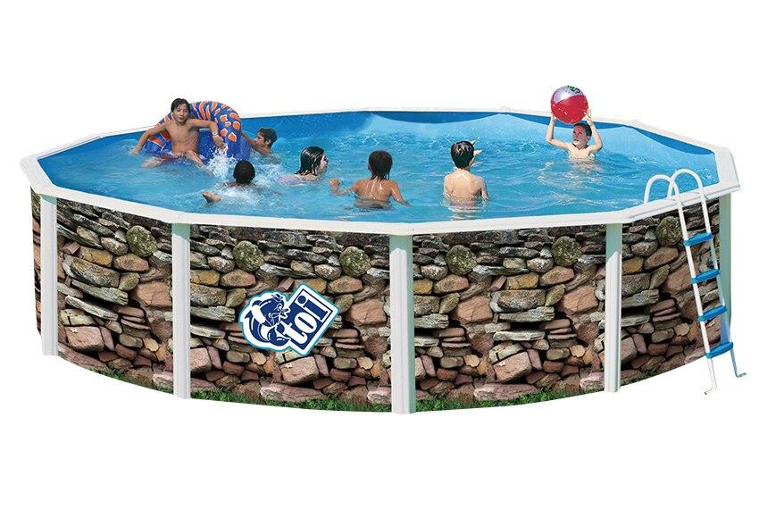 Piscina desmontable toi acero redonda muro ref 16797522 for Toi piscinas desmontables