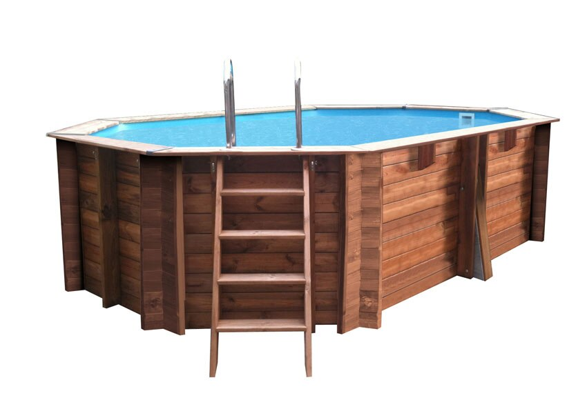 Piscina desmontable gre madera ovalada ref 18682370 leroy merlin - Piscinas de madera leroy merlin ...