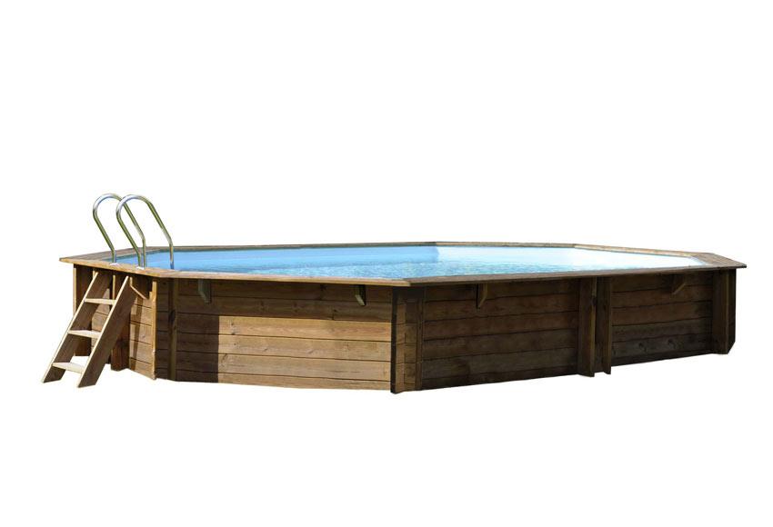 Piscina desmontable gre madera ovalada ref 18682370 - Piscina gre leroy merlin ...