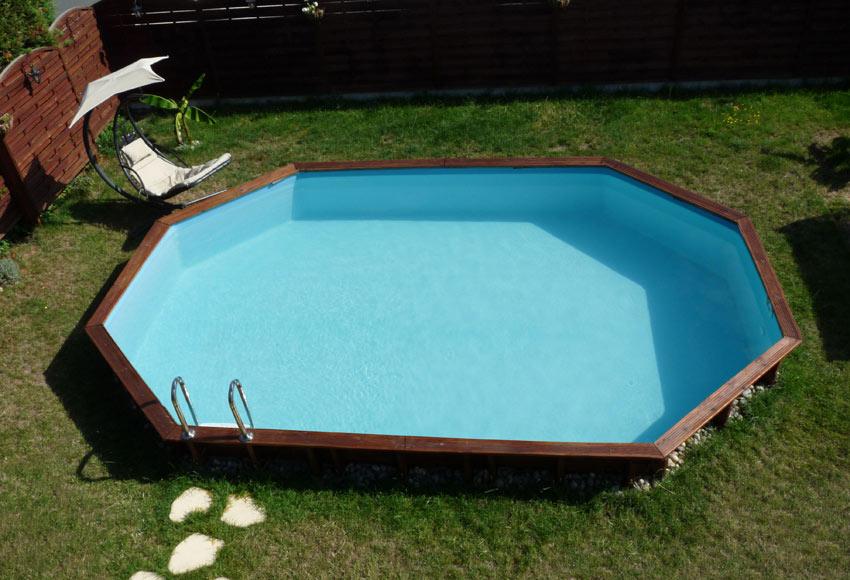 Piscina desmontable gre madera ovalada ref 18682370 for Leroy piscinas desmontables