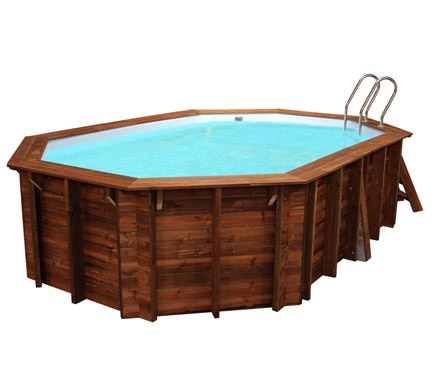 Piscina desmontable gre madera ovalada ref 18682412 for Piscinas leroy merlin 2016