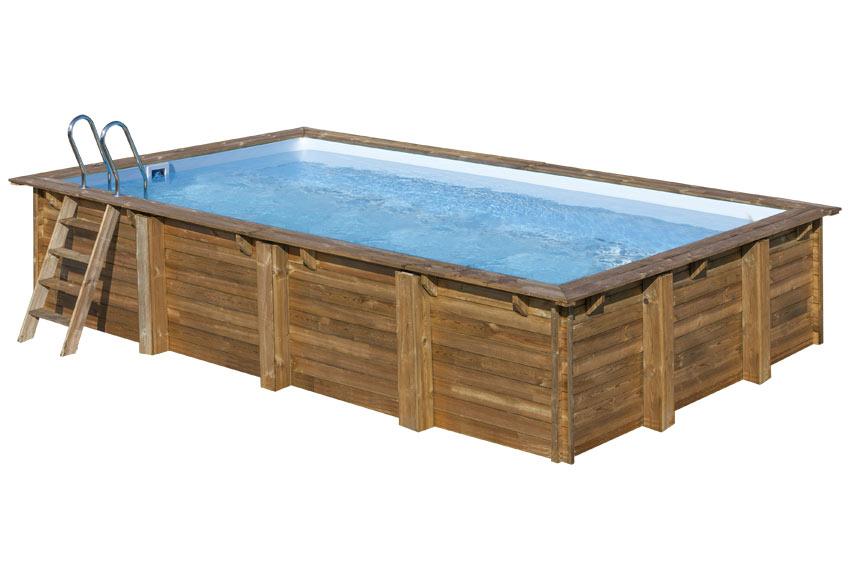 Piscina desmontable gre madera rectangular ref 19645136 - Piscina gre leroy merlin ...