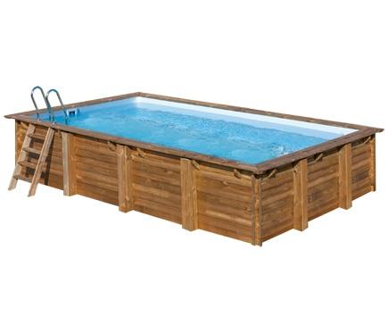 piscina desmontable gre madera rectangular ref 19645143 On piscina desmontable rectangular