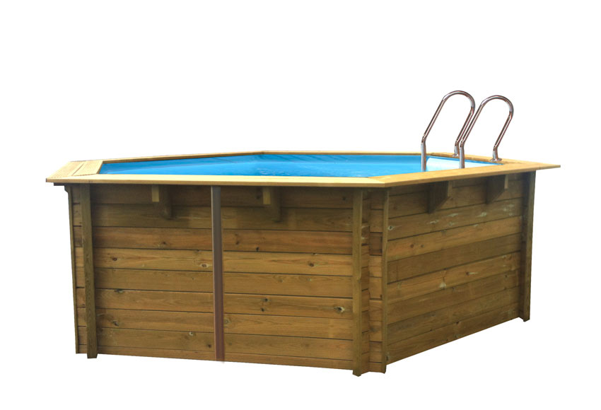 Piscina desmontable gre madera redonda ref 18679794 for Piscinas leroy merlin 2016