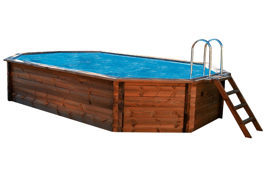Piscina octogonal ovalada madera america ref 13623652 - Piscinas de madera leroy merlin ...
