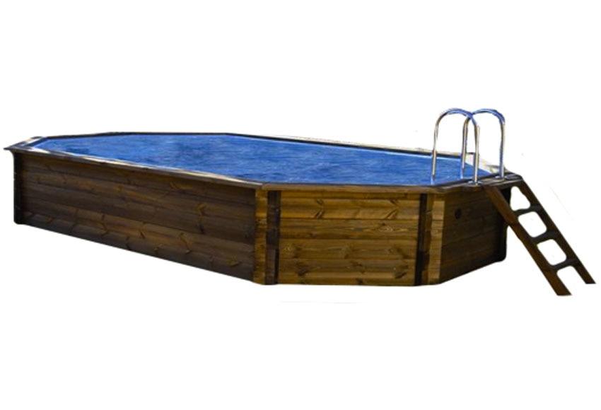 Piscina octogonal ovalada madera america ref 15745443 - Piscinas de madera leroy merlin ...