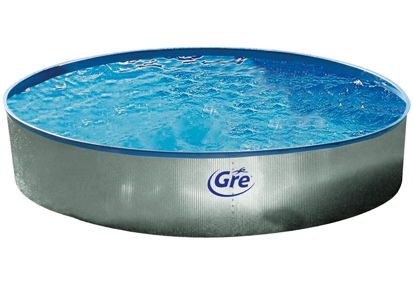 Piscina desmontable gre acero redonda galvanizada ref for Leroy piscinas desmontables