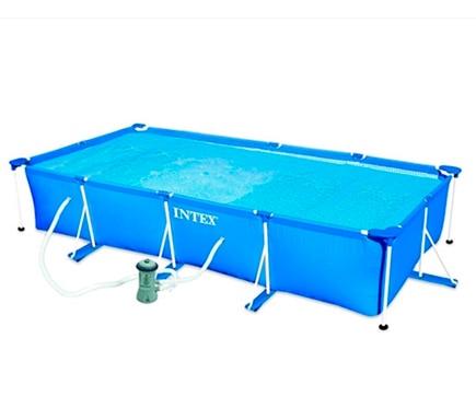 Piscina tubular tubular rectangular azul ref 19457270 leroy merlin - Manta termica piscina leroy merlin ...