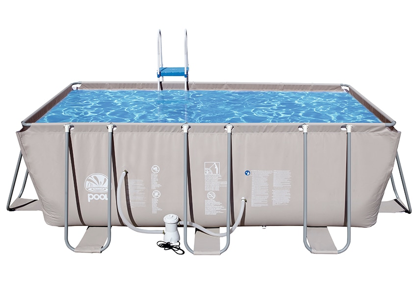 Piscina desmontable tubular rectangular gris ref 16621171 for Piscinas leroy merlin 2016