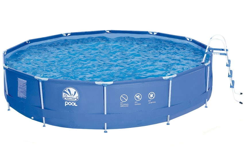 Piscina desmontable tubular redonda azul ref 14989373 for Piscinas leroy merlin 2016