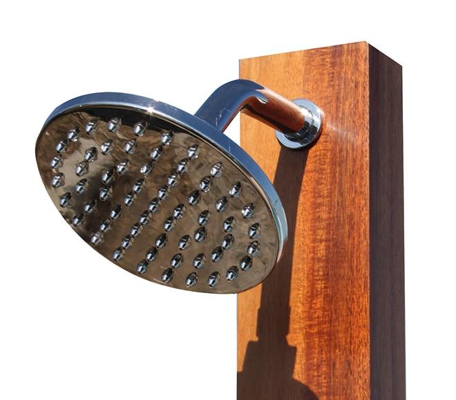 Ducha de piscina qp recta madera ref 16797515 leroy merlin for Piscinas de madera leroy merlin