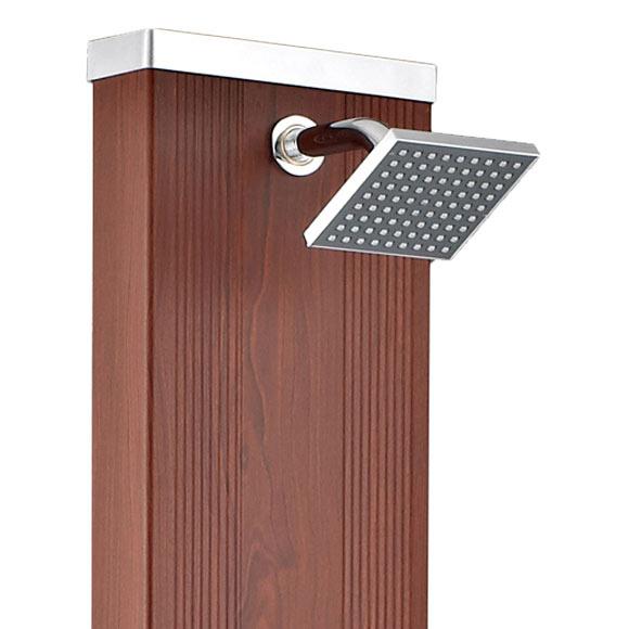 89a882f3 Ducha de piscina QP solar recta imitación madera 28l Ref. 17100531 ...