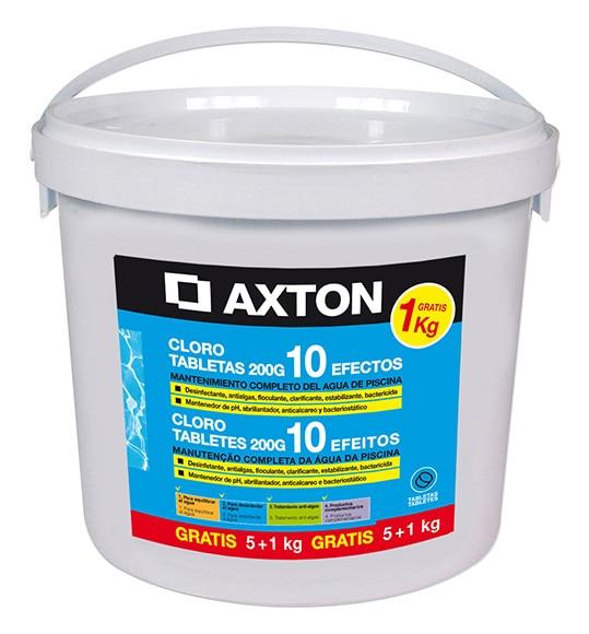 cloro 10 efectos axton pastillas 5 kg 1 gratis ref
