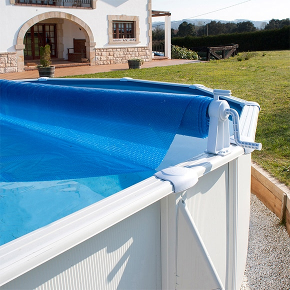 Enrollador enrollador de cubiertas piscinas elevadas ref for Depuradora piscina leroy merlin