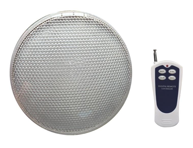 Bombilla para piscina qp 18 leds con mando a distancia ref for Focos led piscina superficie