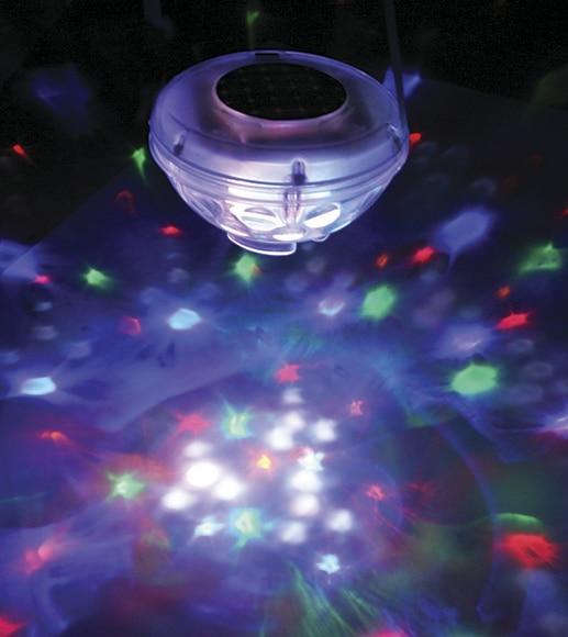 L mpara flotante para piscina gre fantas a 8 leds ref for Luces led para piscinas