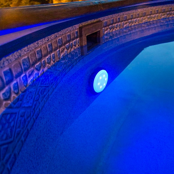 Foco para piscina gre v lvula de retorno colores ref for Foco piscina