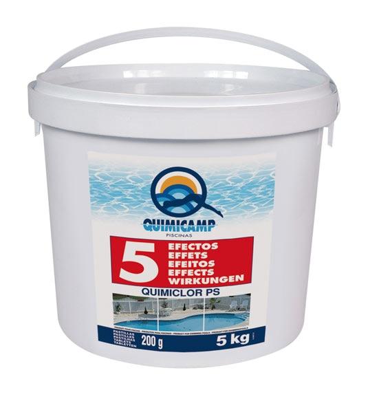 Cloro 5 efectos quimicamp pastillas 5 kg ref 13002346 for Quimicamp piscinas