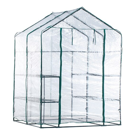 Invernadero con estantes pvc 195 x 143 x 143 cm alto x for Plantas para invernadero