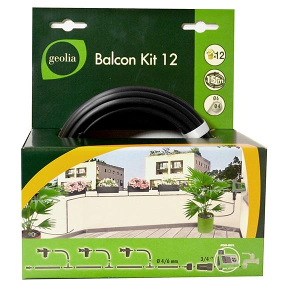 Kit de riego por goteo geolia balcon 12 macetas ref - Kit riego por goteo ...