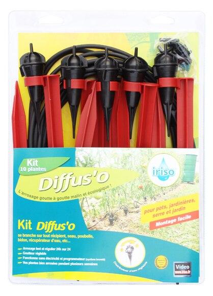 Kit De Riego Por Goteo Iriso 8m 10 Goteros Con Estaca Ref 16374435