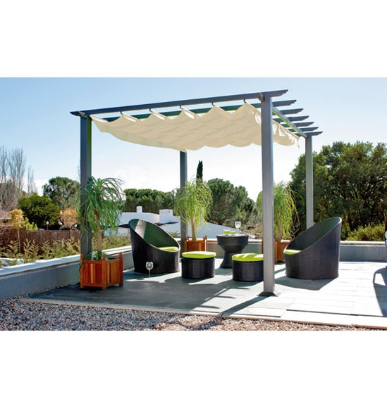 p rgola de aluminio excelence 4x3 ref 13687856 leroy merlin. Black Bedroom Furniture Sets. Home Design Ideas