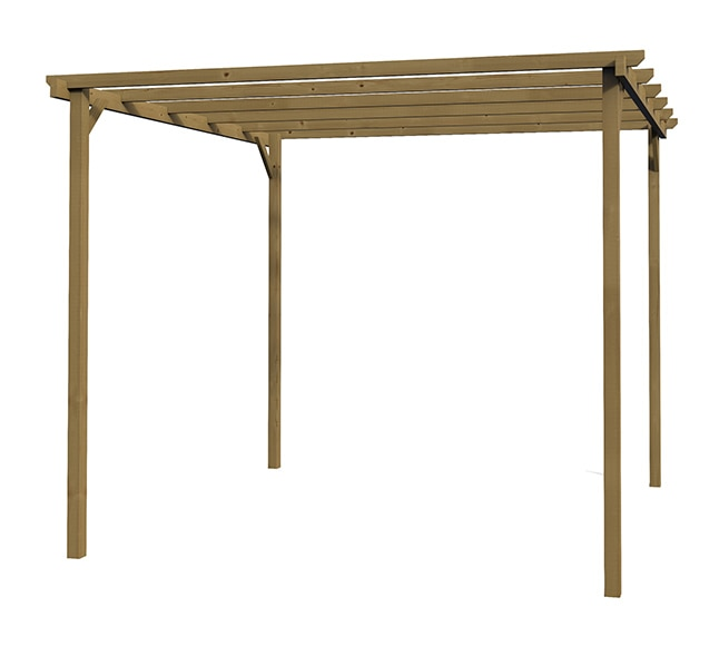 P rgola de 3 x 3 m madeira ref 16732051 leroy merlin for Pergola orientable alu leroy merlin